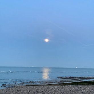 Coucher de lune - Plage - Le Havre
