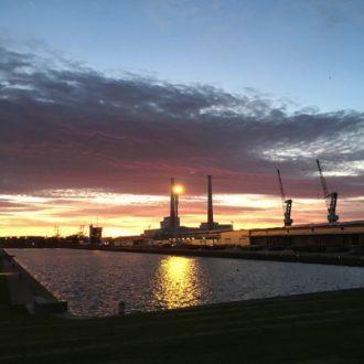 Couché de soleil sur les quais - le Havre